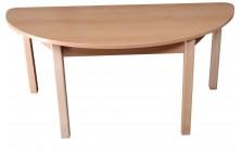 Stůl půlkruhový