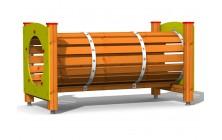 Prolézací tunel dřevěný 2m