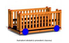 Vagonek dřevěný