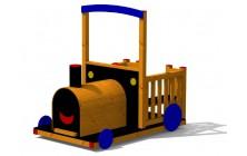 Mašinka kabriolet dřevěná
