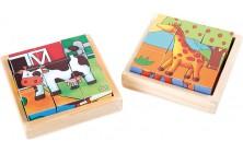 Dřevěné kostky - Farma a ZOO