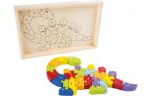 Písmenkové puzzle Dinosaurus