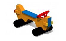 Dětská lavička AUTO 2 s volantem