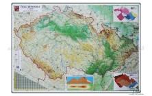 Mapa ČR zeměpisná - magnetická