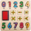 Razítka a puzzle Počítání
