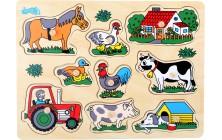 Vkládací puzzle Farma