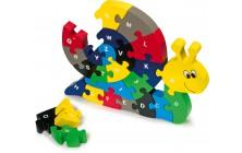 Písmenkové puzzle Šnek