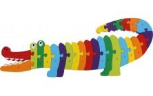 Písmenkové puzzle Krokodýl