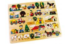 Vkládací puzzle Farma velká